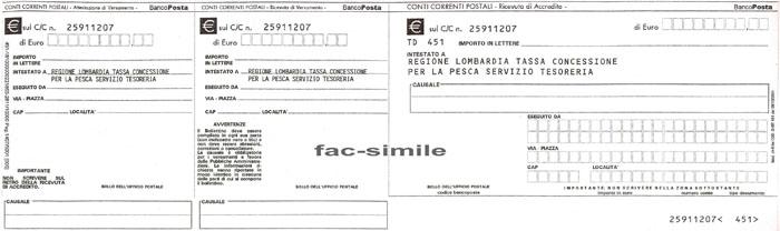 Rinnovo licenza divieti di pesca regolamenti documenti for Bollettino precompilato